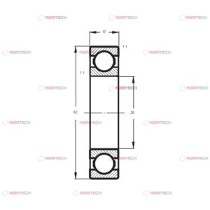 6305 2Z CRAFT rulment (25x62x17)