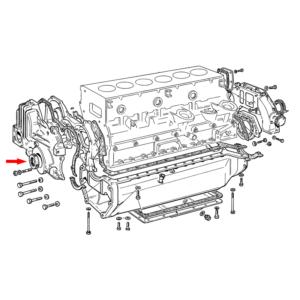 Simering fata arbore motor Fiat, New Holland, Case IH, Ford