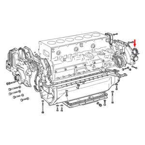 Simering spate arbore motor Fiat