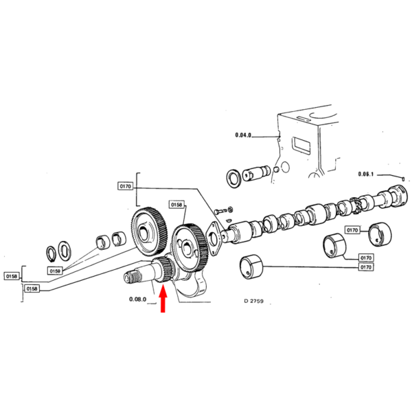 Pinion arbore motor Fiat