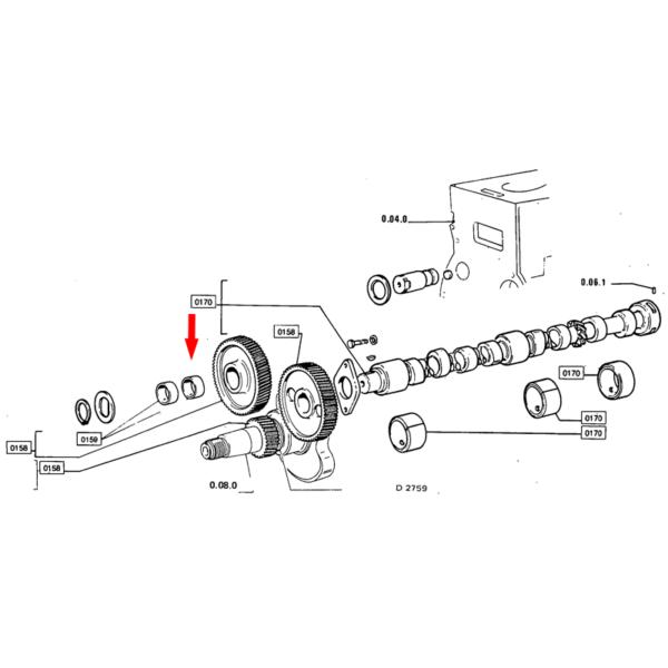 Bucsa distributie motor Fiat