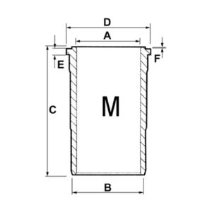 Camasa motor F Case IH Ø 98.42 X 110.75 MM – L 216.10 MM