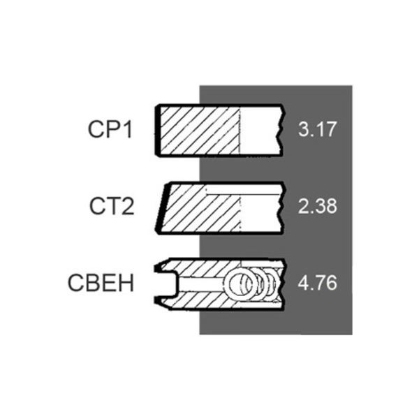 Segmenti motor Case IH Ø 98.42 MM – STD