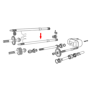 Ax priza putere Fiat L=763 mm