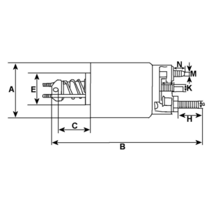 Solenoid bobina electromotor Fiat