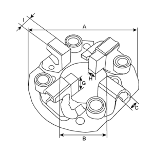 Platou suport perii electromotor Case IH