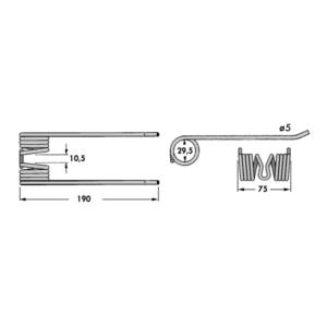 Deget Pick-Up presa baloti Claas 200mm