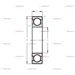 6001 ZZ CRAFT rulment (12x28x8)